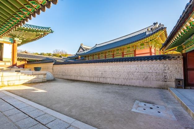 Architecture du palais changdeokgung dans la ville de séoul