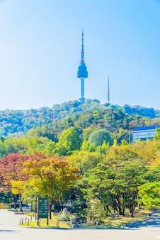 L'architecture érable automne paysage urbain moderne