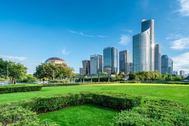 Architecture moderne de l'horizon urbain