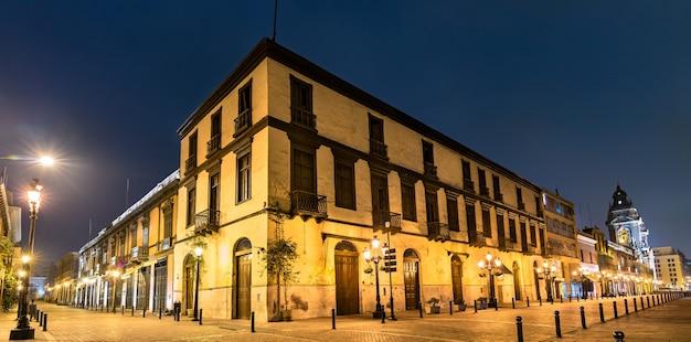 Architecture traditionnelle de lima au pérou