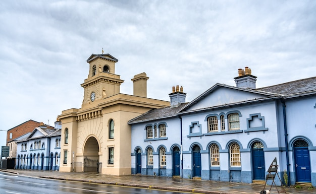 Architecture traditionnelle à nottingham east midlands, angleterre