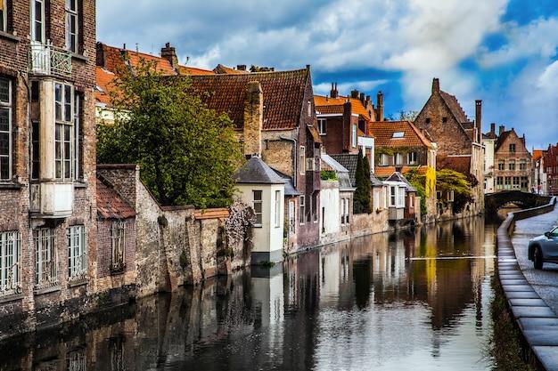 Architecture de la ville de bruges, belgique