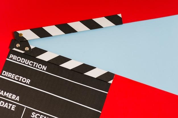 Ardoise de cinéma vue de dessus