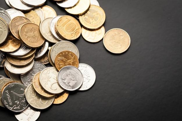 Argent. argent à proximité. argent russe - roubles