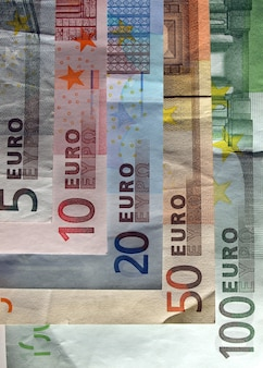 L'argent des billets en euros (eur), monnaie de l'union européenne