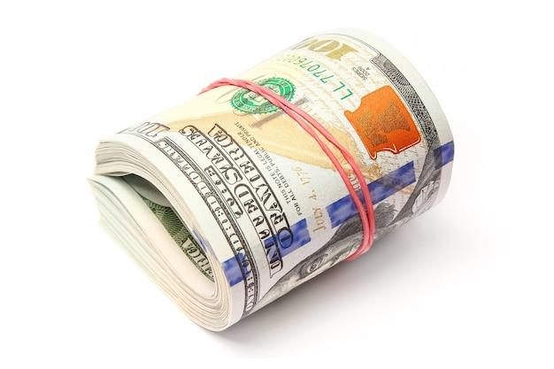 Argent dollar entreprise sur surface blanche