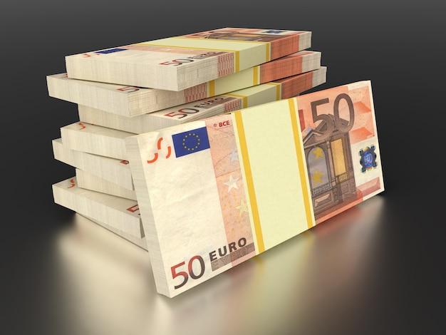 L'argent en euros. concepts commerciaux et financiers. monnaie euro.