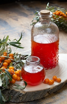 Argousier et huile d'argousier saine