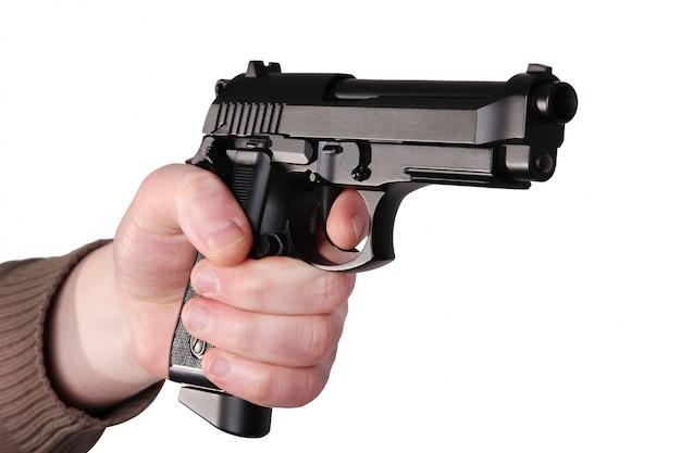 Arme à feu à la main