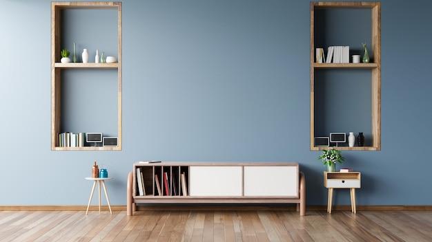 Armoire pour tv dans une salle vide moderne