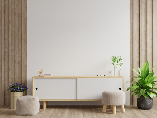 Armoires et mur pour la télévision dans le salon