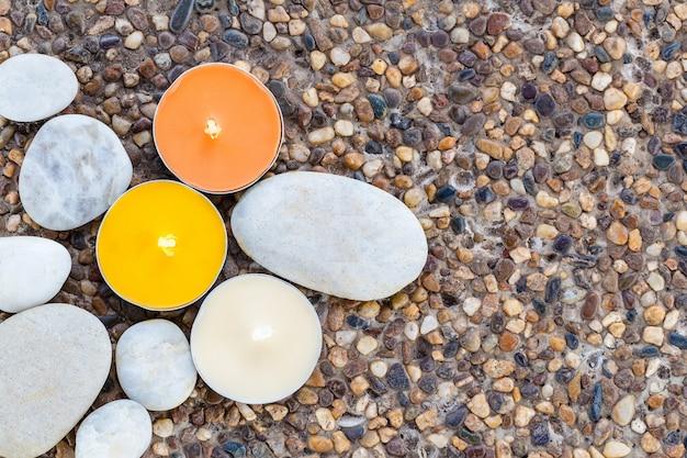 Arôme bougie et pierre, zen comme