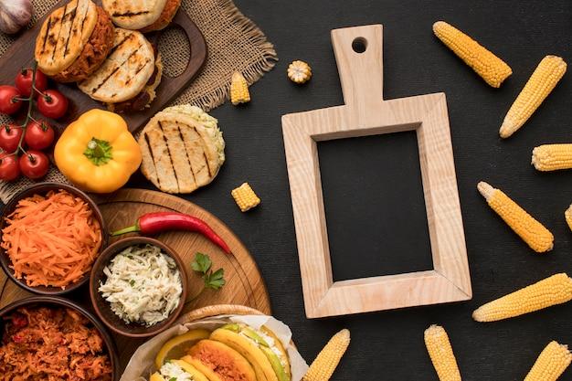 Arrangement alimentaire avec cadre