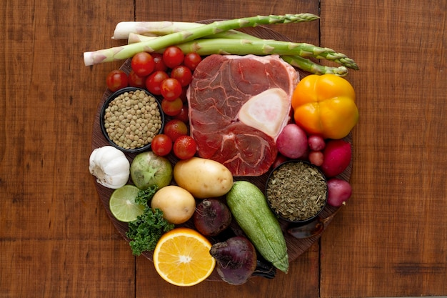 Arrangement alimentaire de régime flexitarien facile