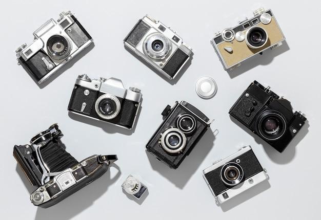 Arrangement d'appareils photo vintage