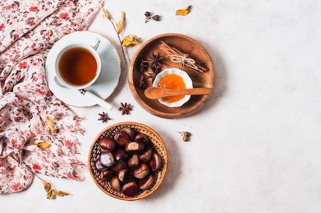 Arrangement d'automne à plat