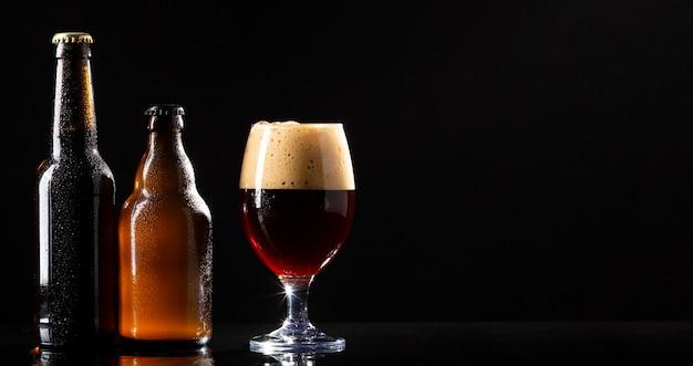 Arrangement avec une bière américaine savoureuse
