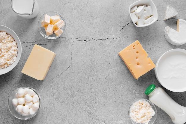 Arrangement de cadre alimentaire plat