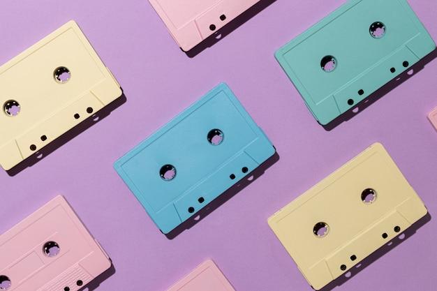 Arrangement de cassettes vintage