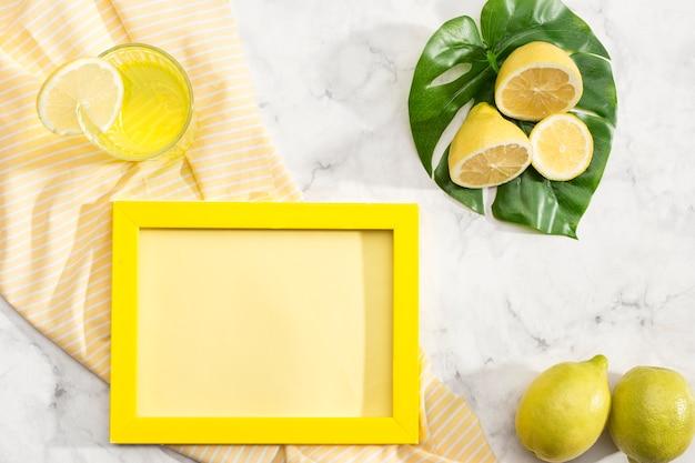 Arrangement de citrons avec espace de copie