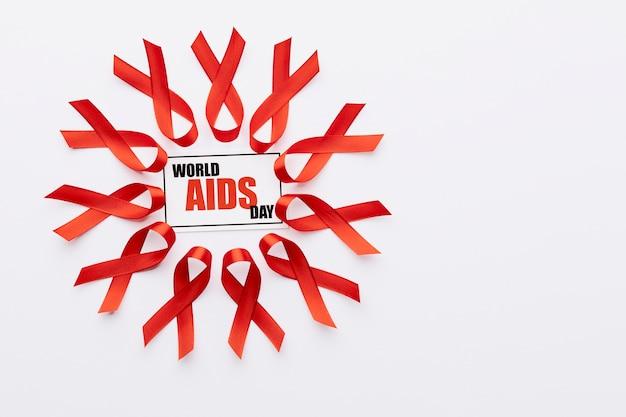 Arrangement de concept de la journée mondiale du sida