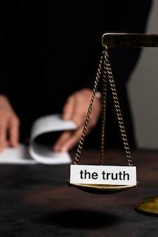 Arrangement de concept de vérité avec équilibre