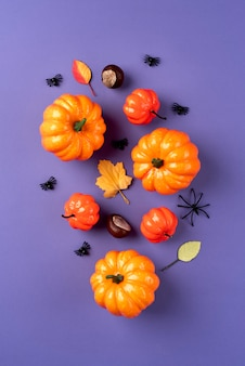 Arrangement créatif d'halloween vue de dessus