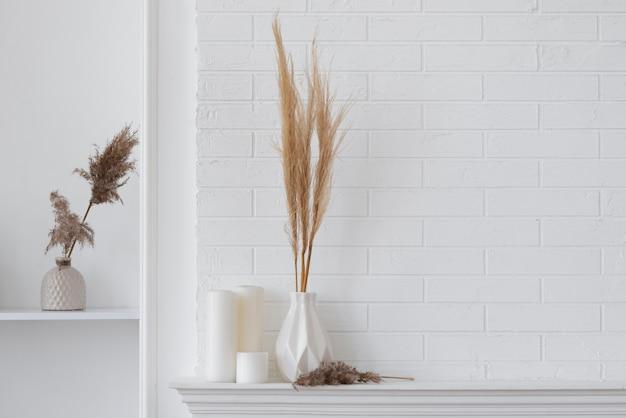 Arrangement de décoration de plantes à la maison avec espace de copie