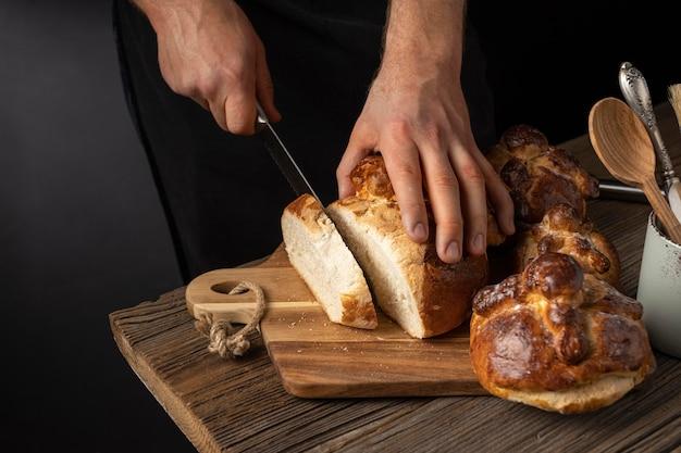 Arrangement de délicieux pain de mort