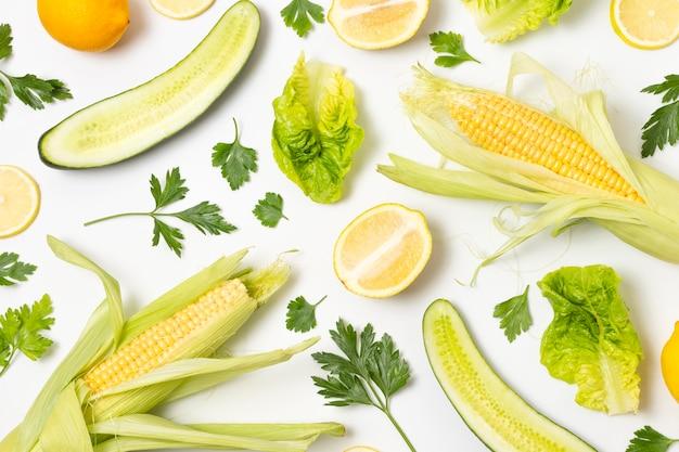 Arrangement de délicieux produits mûrs