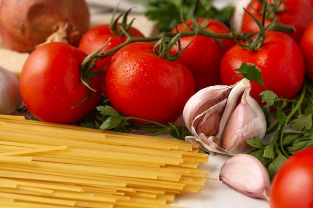 Arrangement de différents ingrédients délicieux