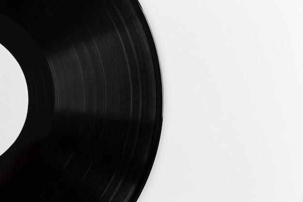Arrangement de disque vinyle vue de dessus