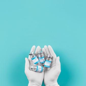 Arrangement Du Vaccin Contre Le Coronavirus En Laboratoire Photo Premium