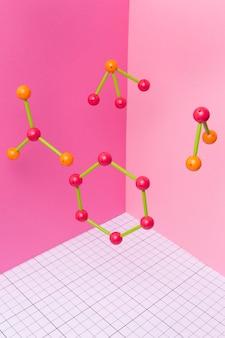 Arrangement d'éléments chimiques nature morte
