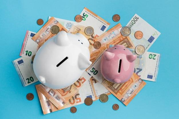 Arrangement d'éléments financiers à plat