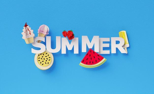 Arrangement d'éléments de nature morte d'été
