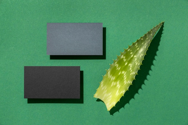 Arrangement avec éléments de papeterie avec feuille