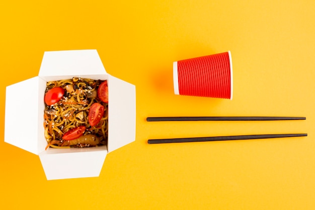 Arrangement de fast food chinois