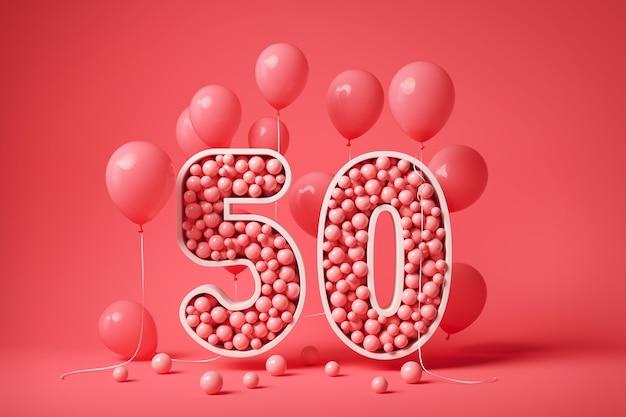 Arrangement festif de célébration du 50e anniversaire