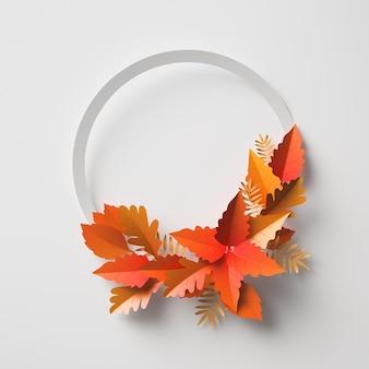 Arrangement de feuilles d'automne avec espace de copie