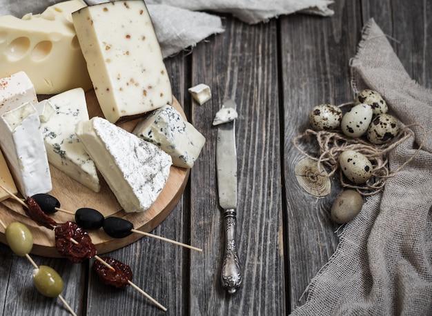 Arrangement de fromages gastronomiques