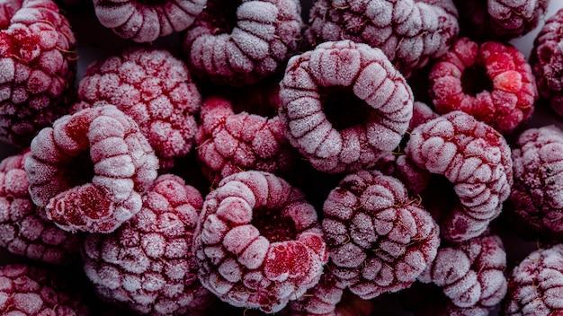 Arrangement de fruits surgelés macro