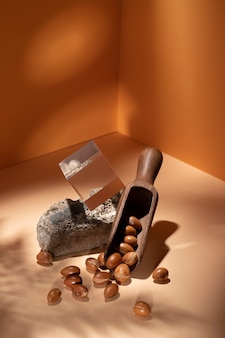 Arrangement de graines d'arganier naturel