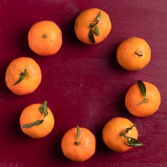 Arrangement de mandarines pour le nouvel an chinois