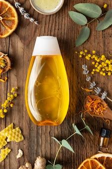 Arrangement de médecine naturelle à plat