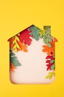 Arrangement de nature morte d'isolement de style de papier