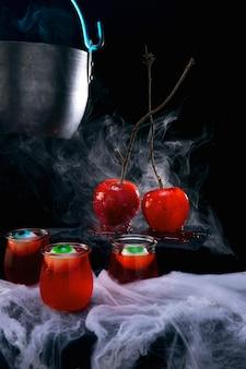 Arrangement de nourriture pour la fête d'halloween
