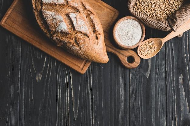 Arrangement de pain de pain sain à bord