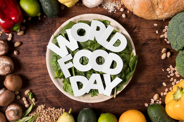 Arrangement de récolte de la journée mondiale de l'alimentation