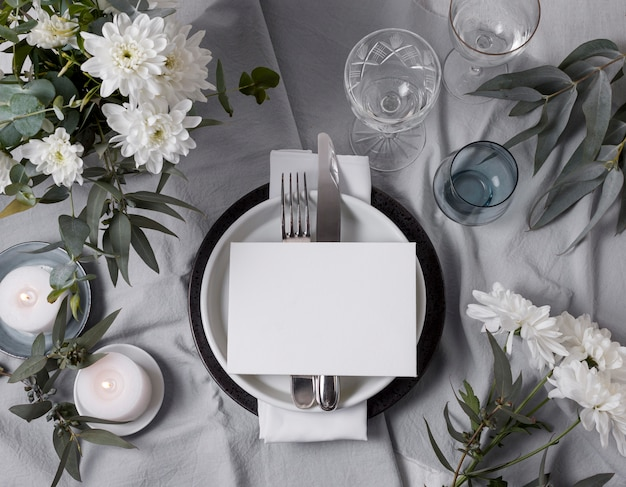 Arrangement de table de mariage floral